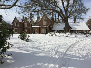 Hall in the snow